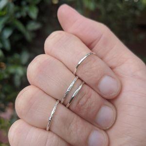 3 Dainty Handmade Sterling Silver Rings
